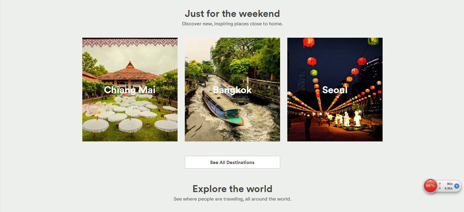 Рекомендации для поездок на выходные пользователям из Китая