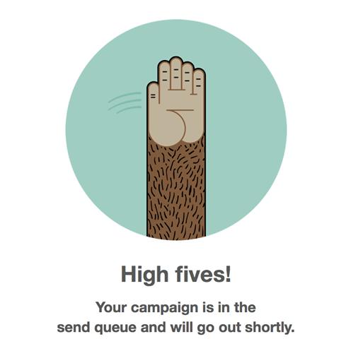 Mailchimp high five